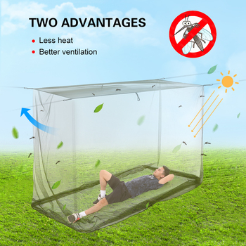 Lixada Camping Mosquito Net Travel Tent Mosquito Net Household Outdoor Travel Convenient Carrying Outdoor ArmyGreen Mosquito Net tanie i dobre opinie CN (pochodzenie) Namiot na 1-2 osoby inne polyester Army Green Camping Net