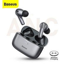 Baseus S2 TWS ANC prawdziwe bezprzewodowe słuchawki aktywna redukcja szumów Bluetooth 5.0 słuchawki przewodowe słuchawki douszne Hi-Fi Audio Touch