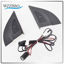 For Hyundai Solaris 2011-2016 Car Tweeter Audio Auto Black Triangle Head Speakers Trumpet with Wire