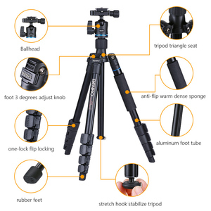 Image 2 - Benro IT25 Statief Draagbare Camera Stands Reflexed Removerble Reizen Monopod Draagtas Max Laden 6Kg