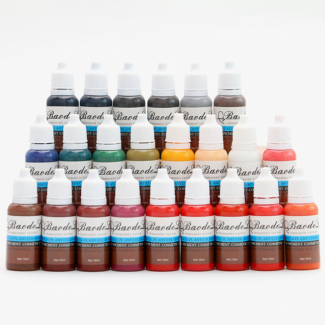 23 Colors Tattoo Pigment ink Eyebrow Lip Eyeline Pigment Coloring Cream Ink For Semi Permanent Body Paint Makeup Tool 3