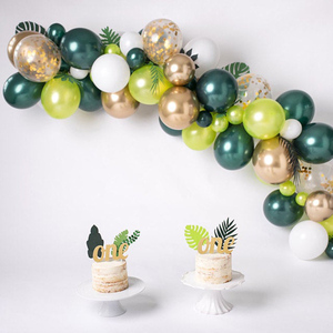 Sage Green Balloons Wedding Decor Chrome Gold Balloons Bridal Shower Baby Shower Decorations Wild One Jungle Safari Birthday