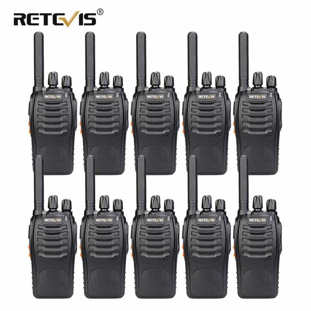 Retevis H777 Plus H777 Cheap Walkie Talkie 10pcs PMR Radio PMR446 FRS USB Charger Handy Two Way Radio Hotel Restaurant Warehouse