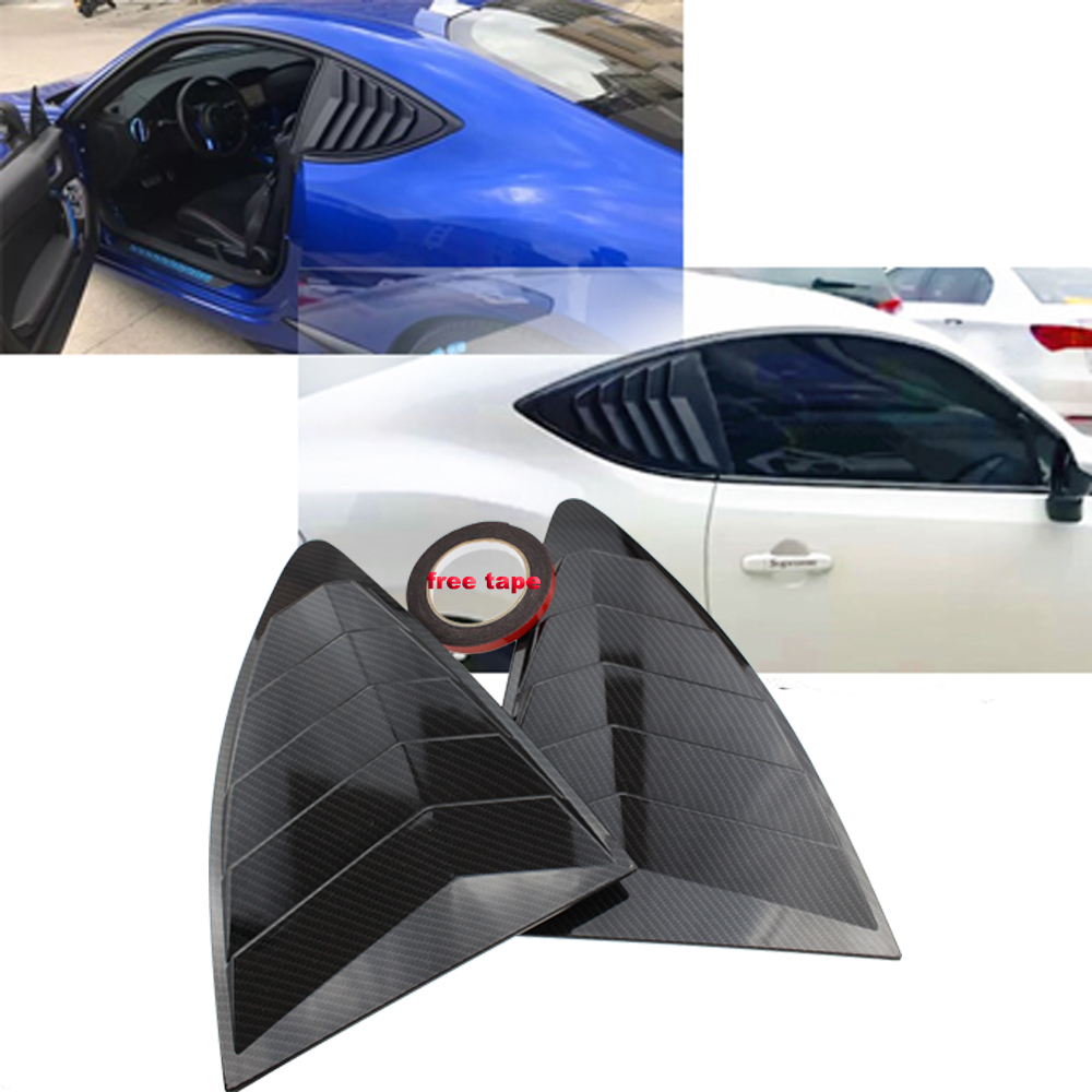 Persiana de ventana de cuarto trasero 2 unids/set Panel de alerón para Scion FRS para Subaru BRZ para Toyota 86 GT86 2013-2018 pegatinas ABS