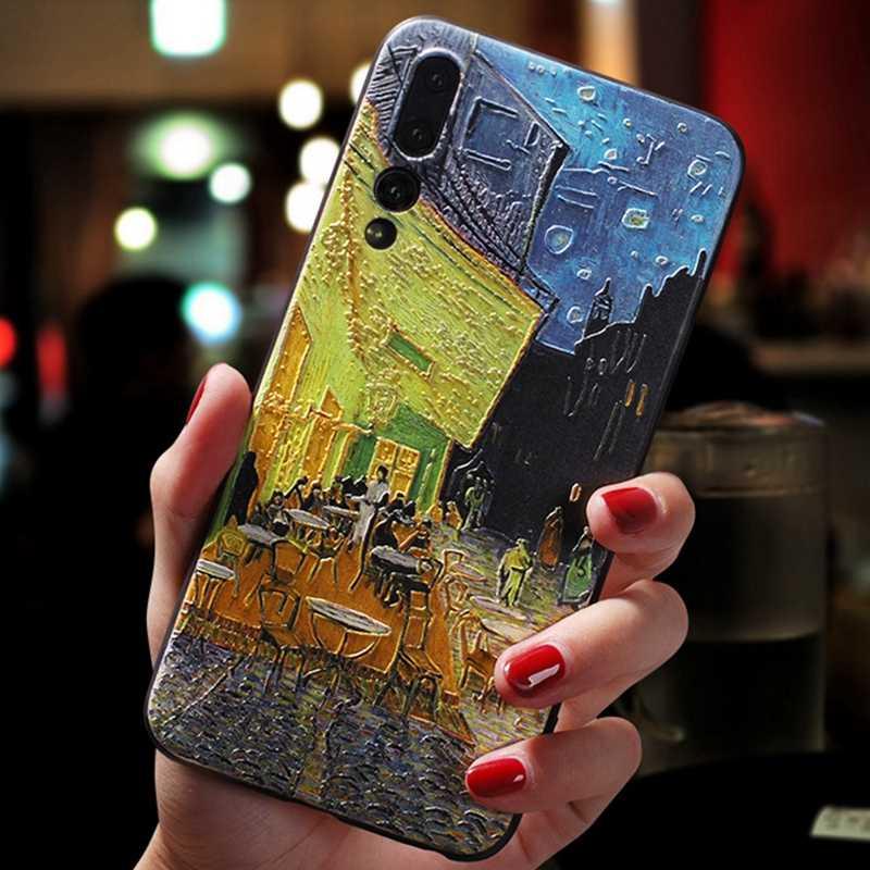 สำหรับ Huawei P30 Lite 3D Emboss ซิลิโคน Matte Space สำหรับ Huawei P10 P20 P30 Mate 10 20 lite Pro 20X Nova 3i กรณี