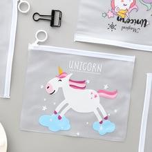 Cute Tears Unicorn Pencil Case School Office Supplies Kawaii Stationery Estuches Chancery Box Pen Bags