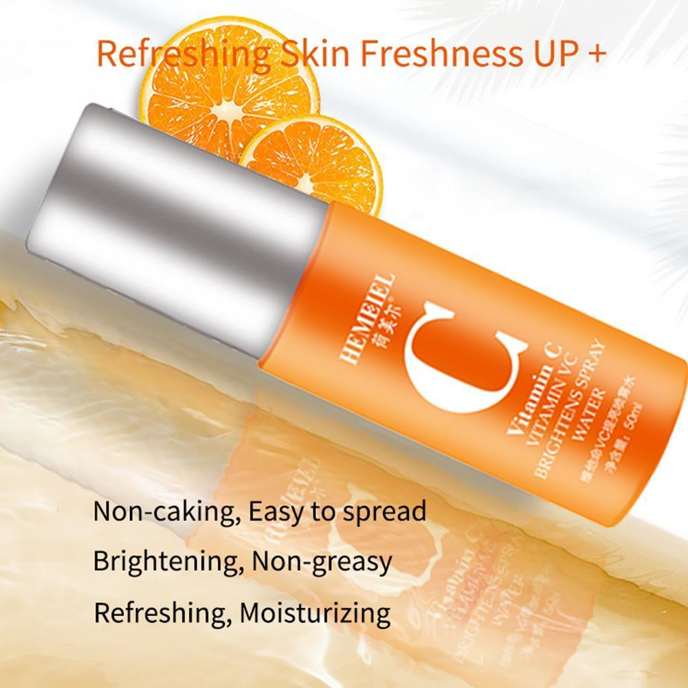 50ml 100% Pure Vitamin C Face Serum Toner Brightening Facial Whitening Care Shrink Spray Control Skin Pores Moisturizing Oi P6W4