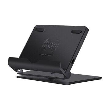 Cargador inalámbrico de 10W para Samsung Galaxy S9 S10 Note 9 10 Qi base de carga inalámbrica para iPhone 11 X XS Max 8 cargador USB