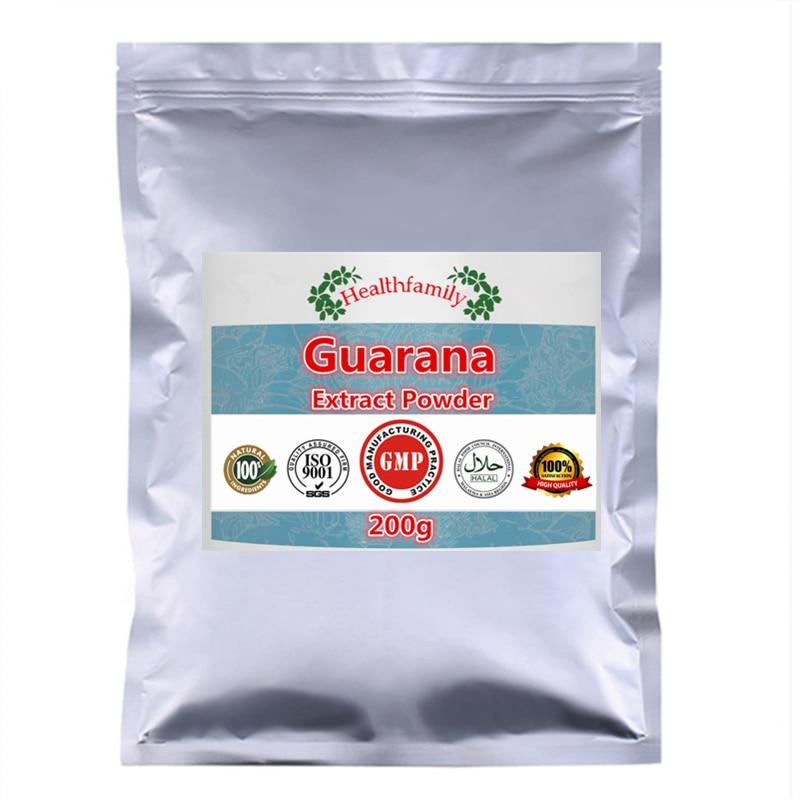 Порошок экстракта гуараны, улучшает память, усиливает энергию, повышает производительность и уверенность