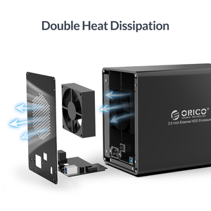 Image 5 - ORICO 95 سلسلة 5 خليج 3.5 USB3.0 قاعدة تركيب الأقراص الصلبة دعم وضع غارة الألومنيوم مع 150 واط الطاقة الداخلية Adaper 80 تيرا بايت (5x16 تيرا بايت)