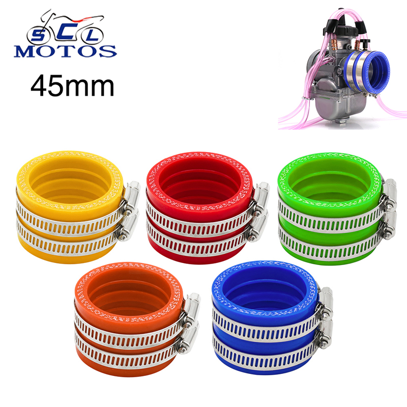 Sclmotos- For <font><b>PWK</b></font> <font><b>34mm</b></font> 36mm 38mm 40mm 42mm Motorcycle 45mm Carburetor Rubber Adapter Inlet Intake Pipe Dirt Bike for Honda KTM image