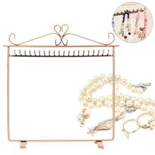 Retro Multifunctional Metal 20 Hooks Jewellery Display Stand Earring Necklace Bracelet Hook Holder Hanger Display Stands Holder(China)