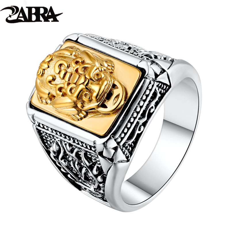 ZABRA 925 Sterling Silver Golden Copper Brave Troops Ring For Men Women Animal Lovers Party Trendy Statement Wedding Jewelry