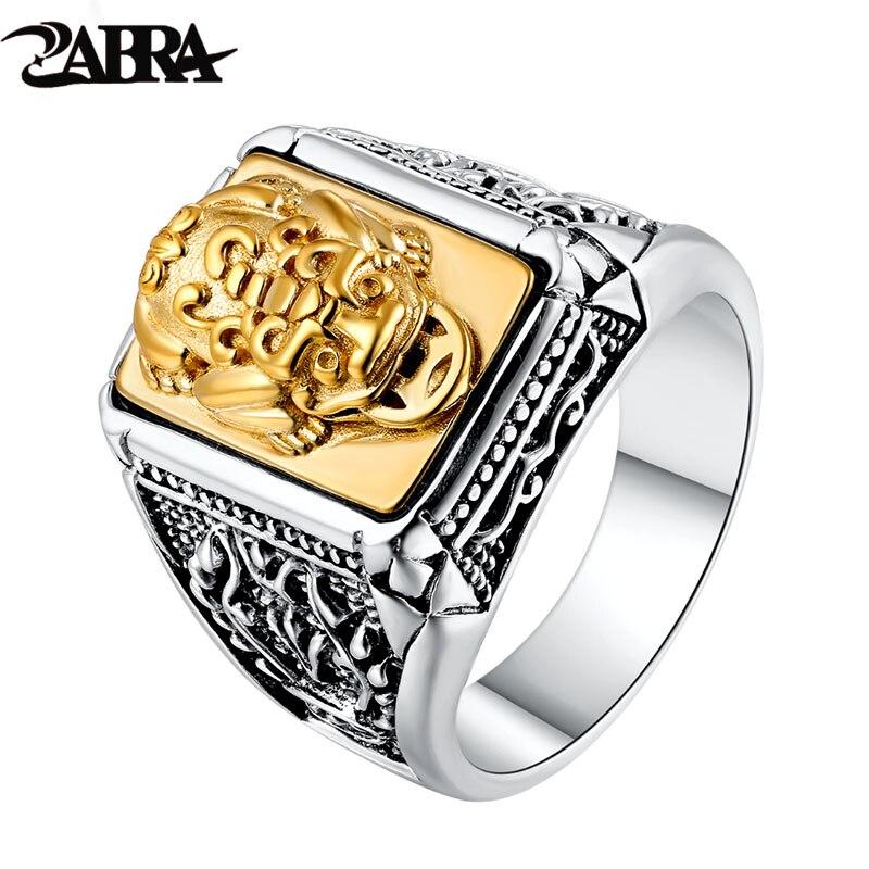 ZABRA 925 bague en argent Sterling doré cuivre courageux troupes pour hommes femmes animaux amoureux fête à la mode déclaration bijoux de mariage