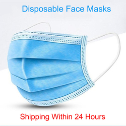 Surgical Mask 50PCS Protective Mask Earloop Face Mouth Masks 3-Ply Anti-COVID-19 Mask Anti-virus Mask Anti-bacterial Mask Safety Dust Mask N95