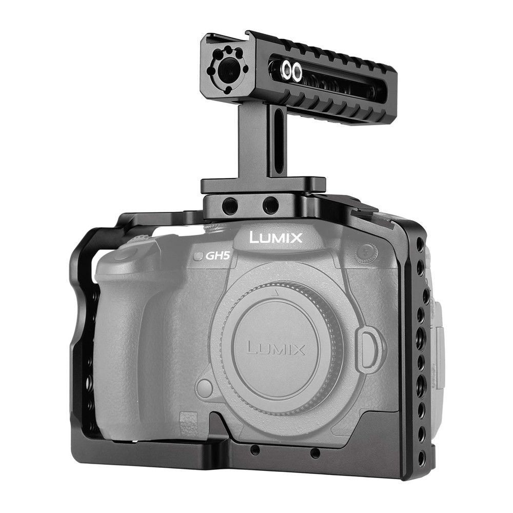 SmallRig Camera GH5 Dual Aluminum Cage kit For Panasonic Lumix / GH5S Form Fitting with Top Handle Grip  2050