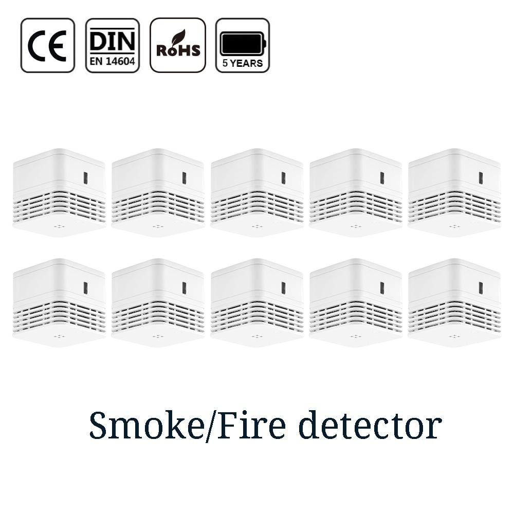 CPVan 5 Years Battery Smoke Detector Sensor Detector CE EN14604 Photoelectric Smoke Sensor Fire Protection Fire Alarm Detector