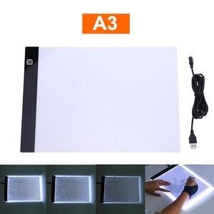 KaKBeir A3 tableta de gráficos digitales para dibujo, tableta de arte, pintura gráfica, tablero de copia electrónica, USB, mesa de escritura, caja de luz LED