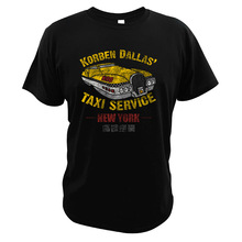 The Fifth Element Fantasy Film T Shirt Korben-Dallas Taxi Service Retro Clothing Digital Print Action Movie EU Size T Shirts