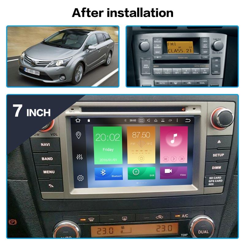 Double Din Fascia//volant//Antenne Kit De Montage Pour Toyota Avensis T27 2009 />