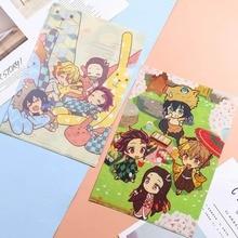 File-Folder Demon Slayer School Document-Bag Office-Learning-Supplies Anime A4 for Kimetsu