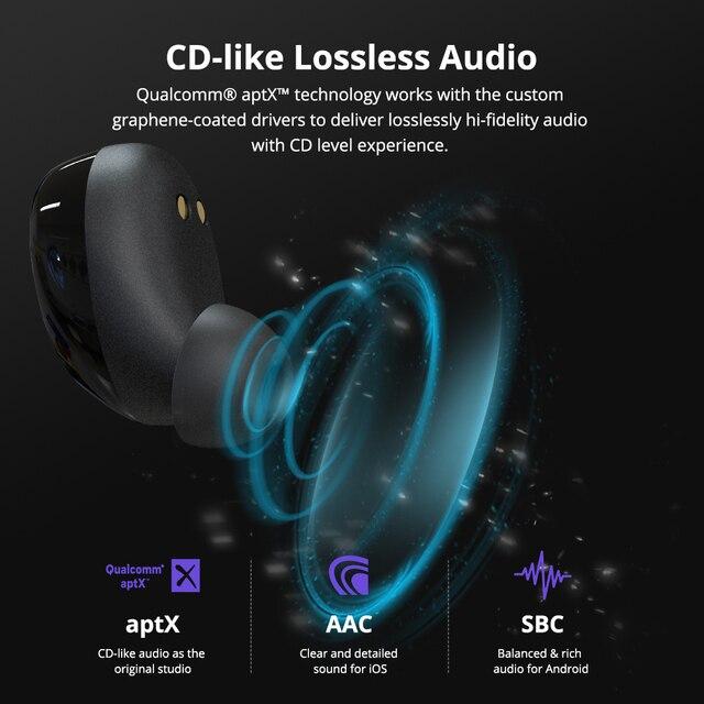 [Newest Version] Tronsmart Onyx Neo TWS Bluetooth Earphone Wireless Earbuds with Qualcomm Chip, aptX, Volume Control 3