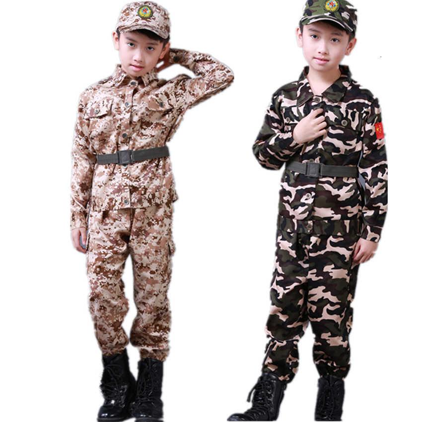 Uniforme Militar De Ejercito Para Ninos Ropa De Soldado Abrigo Largo De Camuflaje Para Entrenamiento De Exploracion Infantil Pantalones Sombrero Y Cinturon Uniformes De Explorador Aliexpress