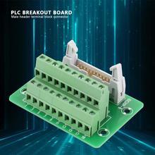 DIN Rail  Mount Interface Module DC20P 20Pin Male Header Breakout Board Terminal Block Connector PLC Breakout Board with Bracket