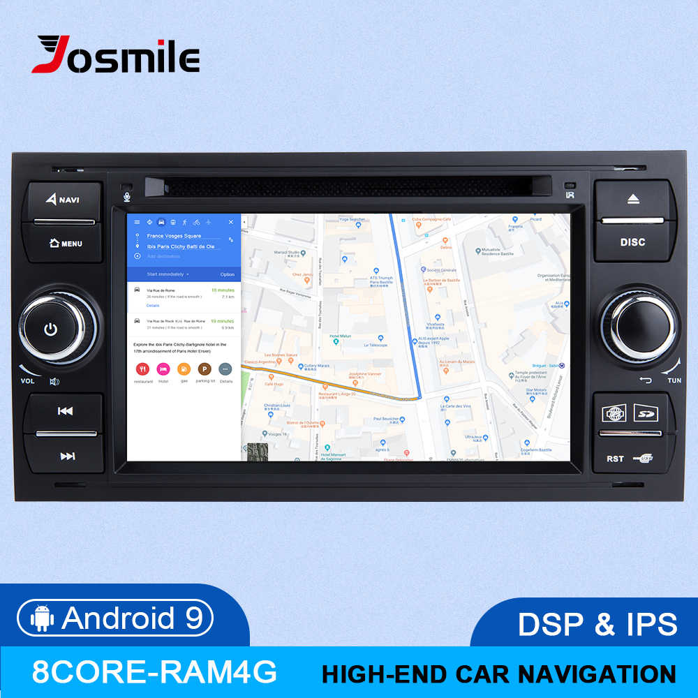 IPS DSP 2 din Android 9 auto Radio Multimedia para Ford Focus 2 3 mk2 Mondeo 4 Kuga Fiesta Transit Connect S-MAXC-MAX 8 Core 4G 64
