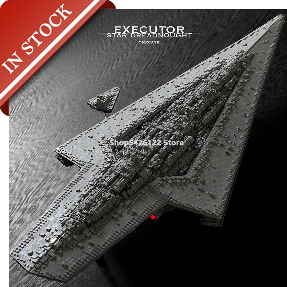 MOC Star Series Wars Executor Class Star Dreadnought In Stock Building Block UCS 7200+Pcs Imperial Destroyer 75252 13134 10030