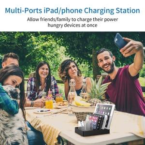Image 5 - NTONPOWER szybka stacja ładująca stacja dokująca 60W wieloportowa ładowarka USB z szybkim ładowaniem QC 3.0 dla iphonea ipad Kindle Tablet