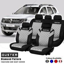 Stofdoek Afdrukken Logo Diamant Patroon Reliëf Volledige Set En 2 Voorstoelen Interieur Accessoires Universele Auto Seat Cover