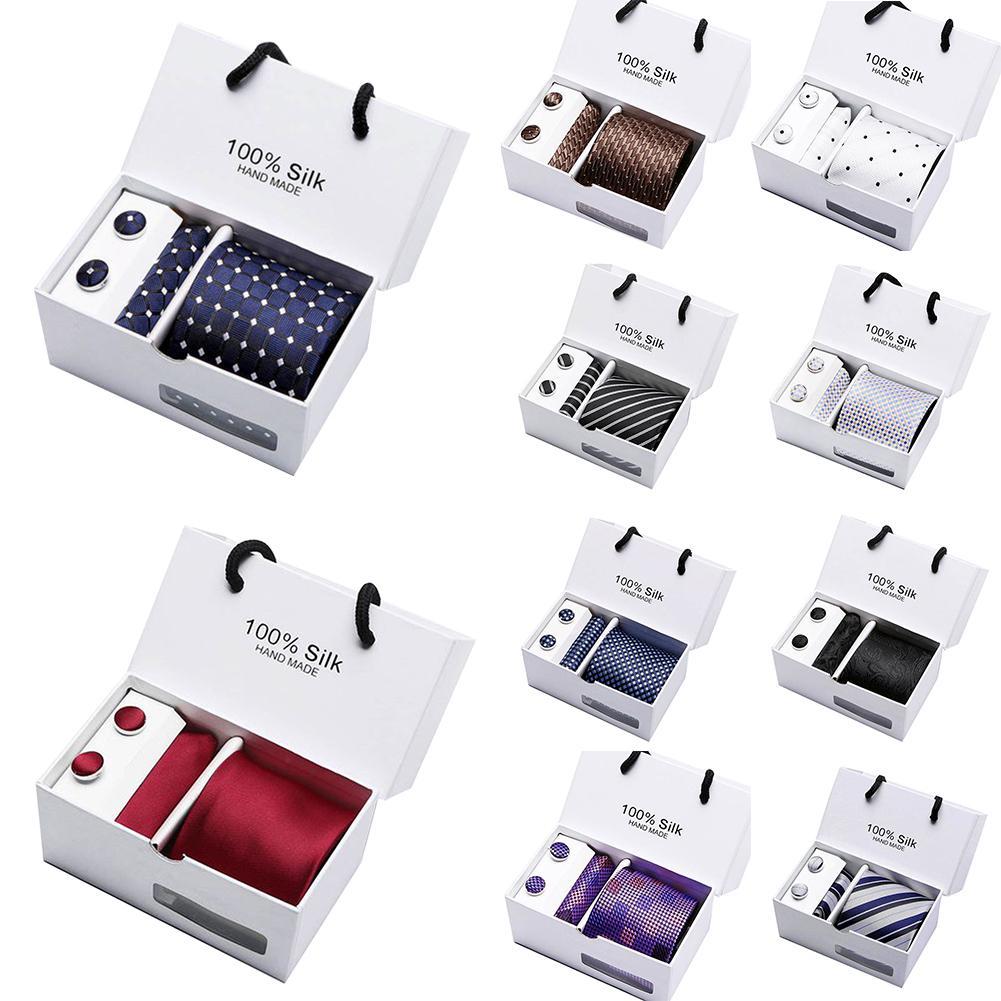 Hot 5Pcs Men Handkerchief Cuff Button Necktie Suit Wedding Party AccessoriesGift