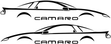 For Camaro Fbody Window Decal, Fits 93-02, 40+ Colors Available! x 2 Decals
