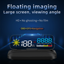Auto Hd Hud Head Up Display Gps Digitale Snelheidsmeter Kmh Mph Hud Automotive Voertuig Motorfiets Boot Fiets Tijd Snelheid Meter vol C5