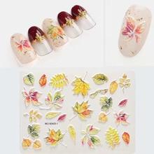 Fashion Empaistic Natural Bee 3D Acrylic Engraved Nail Sticker Nail Water Decals Nail Water Slide Decals DIY Nail Art Decoration