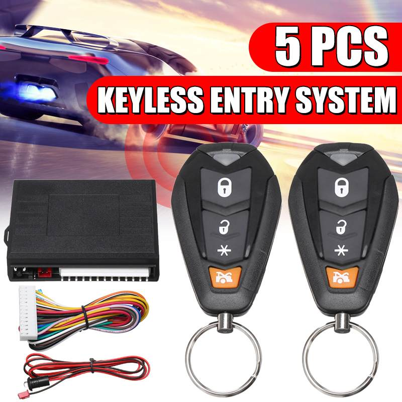 Universal Car Auto Keyless Entry System Start Stop Remote Car Door Lock Keychain Central Kit Door Lock With Remote Control