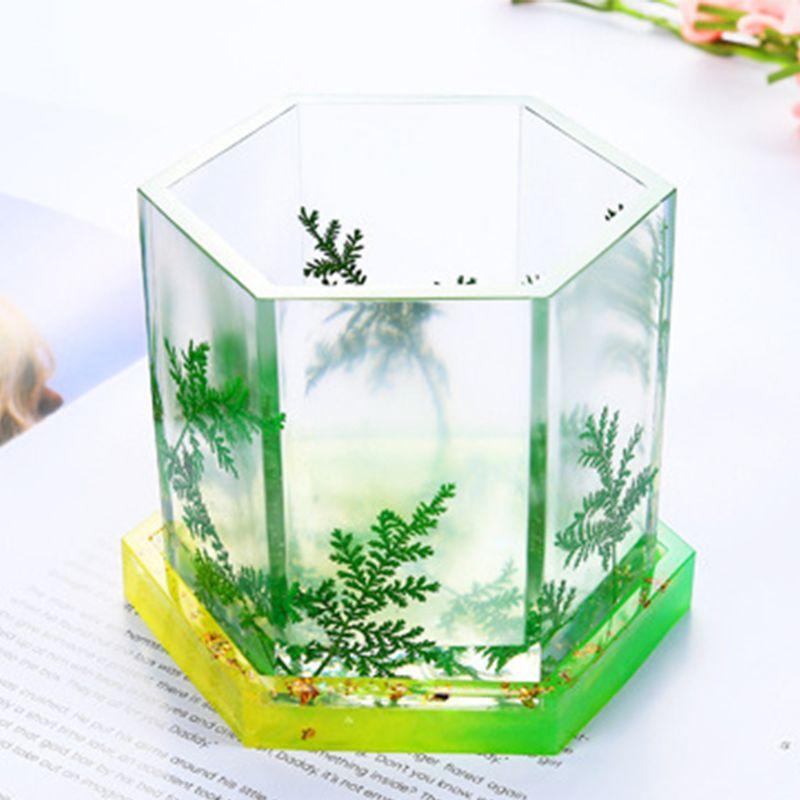 Купить с кэшбэком DIY Crystal Epoxy Tea Coaster Mould Jewelry Decoration Silicone Mold