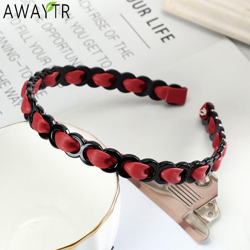 AWAYTR Girls Fashion Woven Hairbands Women Hair Accessories Non-slip Headband Thin Side With Teeth Hair Hoop Headwear