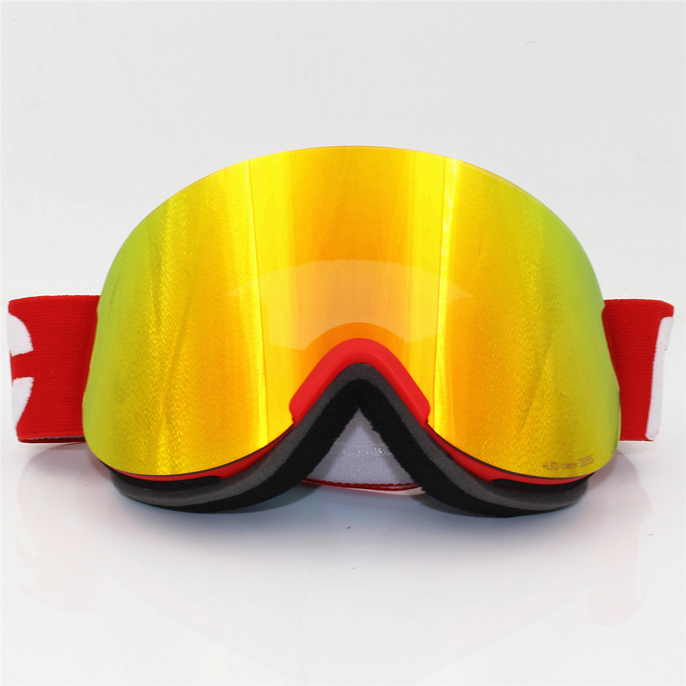 Original Lid Ski Goggles Double Layers Anti-fog Lens Big Ski Mask Glasses Skiing Men Women Snow Snowboard Clarity Retina