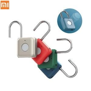 Xiaomi youdian Kitty Smart Fingerprint Door Lock Padlock USB Charging Keyless Anti Theft Travel Luggage Drawer Safety Lock(China)