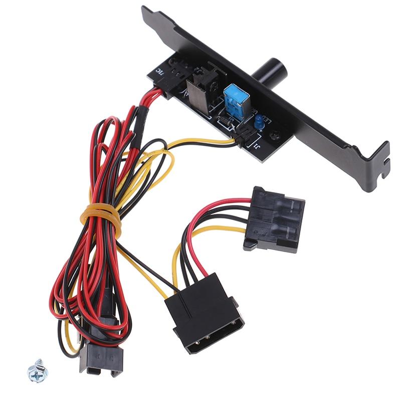 Controlador de velocidade do ventilador de refrigeração do refrigerador de 3 canais para o ventilador do caso do processador central hdd vga