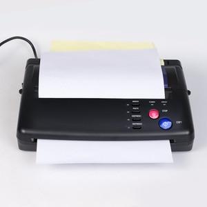Image 2 - Impressora térmica da copiadora da máquina de transferência do fabricante do estêncil da tatuagem com presente 10 partes papéis