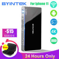 BYINTEK UFO P10 Tragbare Smart Home Theater Android 7.1.2 OS Wifi Mini HD LED dlp Projektor Für Volle 1080P MAX 4K für Iphone 11