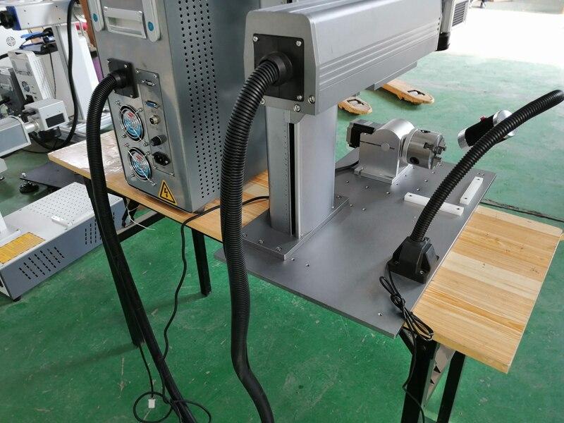 split 30W Raycus Optical Fiber Laser Marking Machine 20W Fiber Engraving Machine Stainless Steel Metal Marking in Wood Routers from Tools