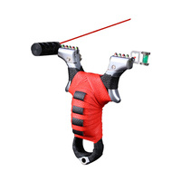 Hunting Slingshot Infrared Laser Alloy Catapult with Rubber Band Outdoor Shooting Sling Shot