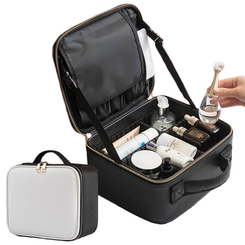 LHLYSGS Waterproof PU Cosmetic Case Women Travel Fashion Beauty Cosmetic Bag Storage Toiletry Kits Organizer Makeup Bag