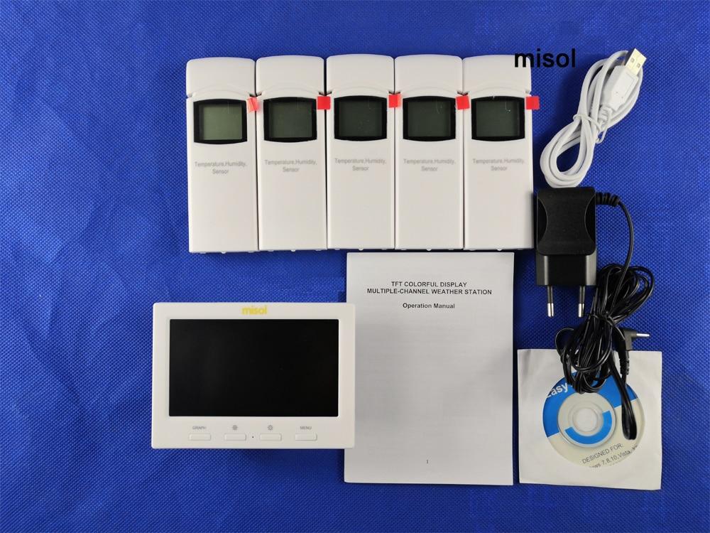 Stazione meteorologica wireless con 5 sensori, 5 canali, schermo a - Strumenti di misura - Fotografia 6