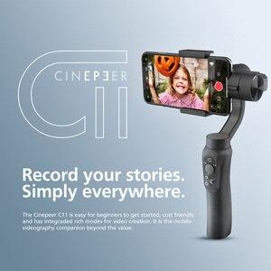 Image 2 - ZHIYUN CINEPEER C11 cardan 3 axes Smartphone stabilisateur de poche Mobile pour iPhone / Samsung / Xiaomi Vlog / GoPro caméra daction
