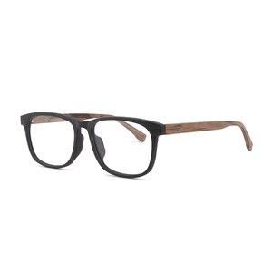 Image 2 - HDCRAFTER وصفة النظارات الإطار الرجال والنساء خشبية الموضة الرجعية النظارات البصرية النظارات إطار نظارات